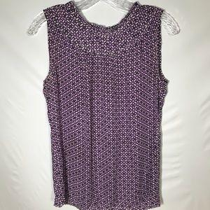 Tory Burch 100 % silk sleeveless blouse